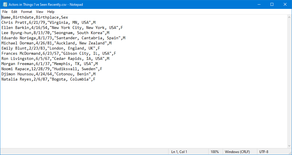 How to Create a CSV File in Notepad.
